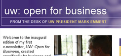 Open for Business e-newsletter